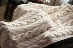 cable knit blanket - Google Search