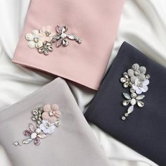 If you value yourself and desire to accord it the respect it deserves, then you should consider our colorful bejewelled hijab that gives your dressing a perfect finishing touch. Hand Embroidery Dress, Floral Embroidery Patterns, Couture Embroidery, Embroidery Fashion, Hand Embroidery Designs, Bead Embroidery Jewelry, Beaded Embroidery, Beaded Jewelry, Jewellery