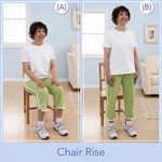 The Chair Workout - This quick and easy workout is a great beginner's exercise. All you need is a chair and a piece of resistance tubing with handles. Try these exercises twice a week, in addition to 20 to 30 minutes of aerobic activity, and you'll find it's easy to make exercise a habit.