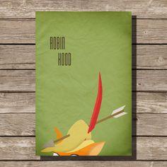 Disney Robin Hood movie poster sherwood art print disney poster movie art fan art merry men sheriff nottingham on Etsy, $15.00