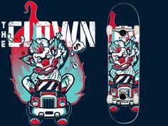 Clown Skate Brand designed by Penpencils.