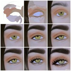 Where To Get Eyelash Extensions Done Near Me Fake Eyelashes Set digital art near me - Digital Art Digital Painting Tutorials, Digital Art Tutorial, Art Tutorials, Eye Art, Art Drawings Sketches, Eye Drawings, Drawing Techniques, Digital Illustration, Painting & Drawing