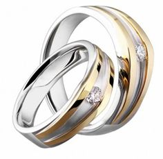 Wedding Rings For Couple With Diamond