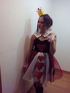 DIY disfraz reina de corazones # DIY queen of hearts costume