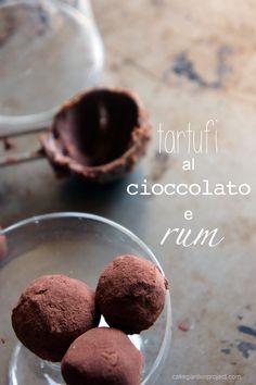 tartufi al cioccolato e rum