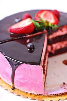 Malinová torta s pudingom