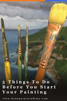 5 Things To Do Before You Start Your Painting Oil Painting how to clean oil paint brushes Simple Oil Painting, Oil Painting Tips, Oil Painting For Beginners, Oil Painting Pictures, Acrylic Painting Techniques, Art Techniques, Painting & Drawing, Watercolor Paintings, How To Oil Paint