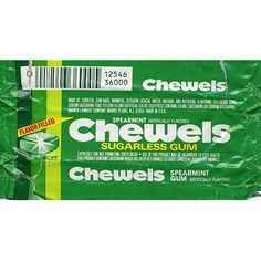 "Chewels Gum - Oh I LOOOVED this gum!! Brand: Chewels Launched: Early '80s What Made It Great: It was liquid-filled. This soft, square gum with an extra squirt in the center claimed it was ""so full of flavor, you'll forget it's sugarless!"" Fun fact: Chewels was the first commercial to air on MTV when the music video network launched in 1981."