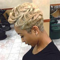 Blonde Waves @salonchristol via @blackhairinfo #FingerWaveShotHair