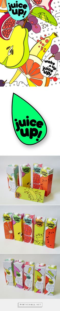 juice up! 構圖活潑的插畫風包裝 | MyDesy 淘靈感... - a grouped images picture - Pin Them All