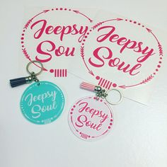 Jeep Decals Jeepsy Soul Decal Jeep Key chain decal combo