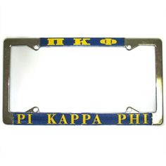 Pi Kappa Phi license plate frame comes as shown. These frames are metal. Rush service is available for of the total price, and can be selected during checkout. Pi Kappa Phi, Greek Gifts, License Plate Frames, Fraternity, Personalized Items, Metal, Accessories, Style, Products