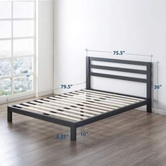 Shop for 10 inch Metal Platform Bed with Headboard/Wooden Slat Support/Mattress Foundation (No Box Spring Needed) - Crown Comfort. Get free delivery On EVERYTHING* Overstock - Your Online Furniture Shop! Bed Frame And Headboard, Upholstered Bed Frame, Upholstered Platform Bed, Headboards For Beds, Bed Frames, Metal Platform Bed, Platform Bed With Storage, Best Platform Beds, Diy Platform Bed Frame