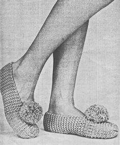 Image result for Knitted Slipper Patterns Free Vintage