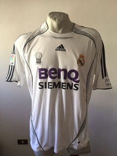 Maglia calcio real madrid adidas benq football shirt jersey patch fifa 2006