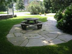 Image detail for -Stone Patio Pictures - Natural and Square Cut Flagstone Patios