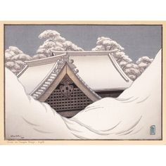 Snow on Temple Roofs-Lilian Miller