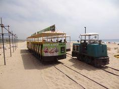 Terminal de partida do Transpraia, Mini-comboio tradicional de praia da Costa da Caparica