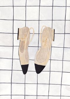Chanel classic two-tone slingback By Sainte Maria