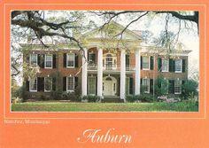 auburn antebellum home in Natchez, MS.