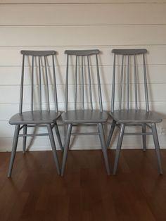 (1) FINN – Pinnestoler med høy rygg i tapiovaara stil