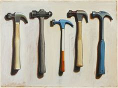 """Painting by Wayne Thiebaud - """"Five Hammers"""" Haring Art, Keith Haring, Wayne Thiebaud Paintings, Pop Art, Psychedelic Drawings, Principles Of Art, Still Life Art, Renaissance Art, Everyday Objects"""