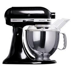 """KitchenAid Artisan Robot de Cozinha – Preto. ♥ """"A personalidade de um cozinheiro expressa-se na criação de sensuais experiências culinárias que englobam todos os sentidos, incluído a visão. A KitchenAid considera as suas batedeiras como uma extensão criativa das mãos do cozinheiro, proporcionando um óptimo controlo a nível profissional. Esta Batedeira Artisan™ Chefe Tilt é tudo isso e tem um design icônico."""""""