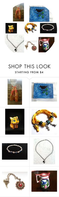 """Etsy Shops United Fabulous Finds"" by snugwinterhugs on Polyvore featuring Dinosaurs"