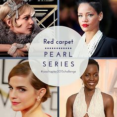 #pearlseries  #pearl #pearls #jewellery #jeweller #ring #engagementring #weddingring #bracelet #bangle #necklace #pendant #chain #earrings #redcarpet #redcarpetjewellery #dress #pearldress #greatgatsby #careymulligan #rihanna #emmawatson #lupitanyongó #jaachapter2015challenge #page292of365  Images clockwise from top left: theheritagestudio.com; Rihanna in Alexander McQueen, Getty Images; Lupita Nyongó wears Calvin Klein pearl gown incorporating 6,000 pearls at the 2015 Oscars…