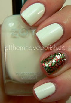 Tis the season.  Let them have Polish! A good way to rock light colors in the winter!