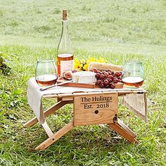 This is a dual purpose picnic table. Not only is this picnic table great for outdoor eating, but it easily converts into two cute garden benches. Wine Table, A Table, Portable Picnic Table, Picnic Tables, Tv Dinner Trays, Beer Brewing Kits, Romantic Gifts For Him, Wine Carrier, Romantic Picnics