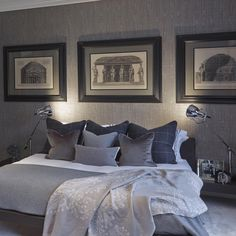 Classic luxury interior design bedroom with photos