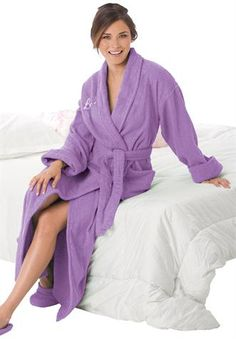 Long Terry Robe with FREE Matching Slippers by Dreams   Co®  8e9cc8cc7