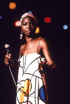 Nina Simone, an iconic singer, songwriter, and pianist.