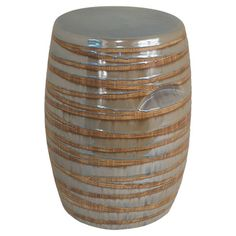 Offer a stunning seat to guests in your living room or rest your latest read atop this eye-catching garden stool, showcasing an exotic stripe motif....