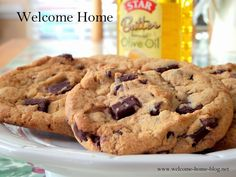 Welcome Home Blog: Chewy Chocolate Chunk Cookies