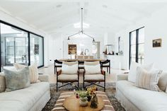 Maison by the Sea: A Stylish San Diego Home by Alexis Garrett Design | Rue Living Room Remodel, Living Room Decor, Living Rooms, Home Lanterns, San Diego Houses, Open Space Living, Dream House Interior, Shared Rooms, Home Decor Inspiration