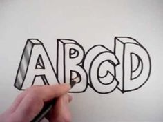 How To Draw The Alphabet in 3D Letters: A video