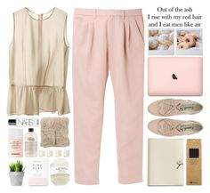 """""""Speechless"""" by owlmarbles ❤ liked on Polyvore featuring beauty, H&M, Uniqlo, Coach, Bloomingville, NARS Cosmetics, philosophy, Shabby Chic and Chanel"""