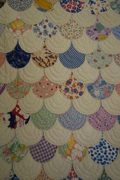 Vintage Quilt -Feedsack Clam Shell- 1930's UNUSED