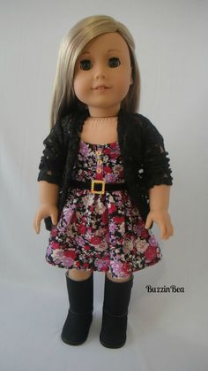 Floral Raspberry Dress & Lace Cardigan by BuzzinBea on Etsy