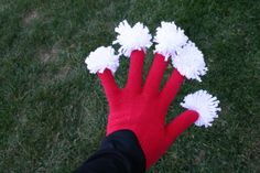 Spirit fingers gloves! perfect for a chiefs game!