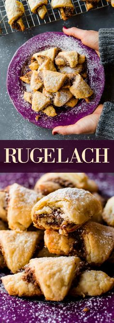 How to make rugelach! These pastries have a buttery, flaky crust and are filled with sweet cinnamon walnut filling! Recipe on sallysbakingaddiction.com