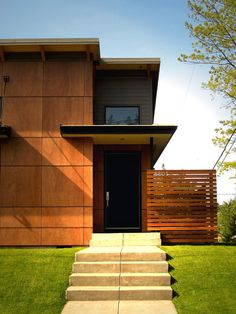 front door, strong hardware  Modern Exterior Design, Pictures, Remodel, Decor and Ideas - page 15
