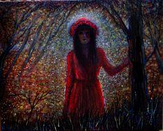 viaggio  nel  sogno,ombre  e  luci..olio  su  tela 20x30
