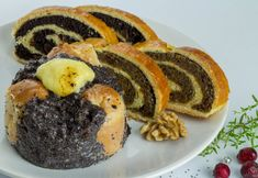 dios-es-makos-bejgli Cake Cookies, Sushi, Cheesecake, Food And Drink, Breakfast, Ethnic Recipes, Drink Recipes, Poppy, Christmas