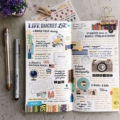Bucket list bullet journal page