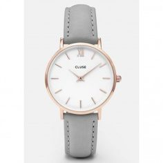 CLUSE Minuit Rose Gold Watch - White