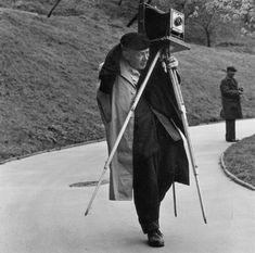 Josef Sudek, Czech photographer (1896-1976) who used bulky cameras to capture images of Prague, despite having an arm amputated after being wounded in WWI. portrait by Timm Rautert (1967)