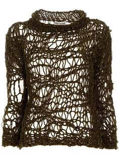 Issey Miyake Vintage Loose Knit Sweater Clothing Tops